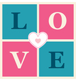 happy valentines day cards retro style vector image vector image