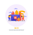 high speed internet round background vector image vector image