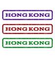 hong kong watermark stamp vector image vector image