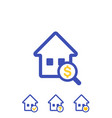 house search icons vector image