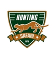 Hunting sport club sign vector image vector image
