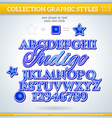 Indigo Graphic Style for Design vector image vector image