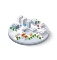 isometric city with skyscrapers vector image