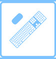 keyboard icon vector image