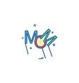 mom icon design vector image vector image