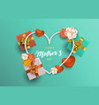mothers day card decoration for moms holiday vector image vector image