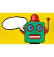 Pensive robot pop art style drawing blank vector image vector image