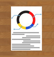 pie chart document vector image vector image