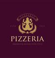 pizzeria classic elegant logo restaurants vector image