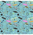 Retro bike pattern background vector image vector image
