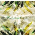 Retro floral grunge background vector image