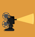 retro projector for movies vector image vector image