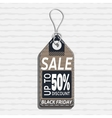 sale tag design on the theme of black friday sale vector image vector image