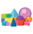 set of math geometry shapes vector image
