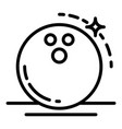 shine bowling ball icon outline style vector image