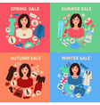 Shopping Seasonal Sale Set with Woman Accessories vector image vector image