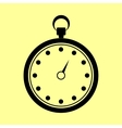 Stopwatch sign Flat style icon vector image vector image