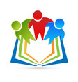 students reading a book icon vector image vector image