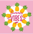 summer design for season postcard vector image vector image