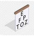 table for eye tests isometric icon vector image vector image