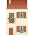traditional european town house vector image vector image
