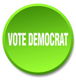 vote democrat green round flat isolated push vector image vector image