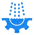Water Shower Service Gear Grainy Texture Icon vector image