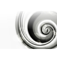 White Spiral vector image vector image