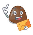with envelope chocolate candies character cartoon vector image