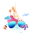 vector illustration of funky abstract summer backg vector image