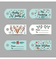 Christmas Gift Tags With Typography New Year vector image