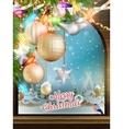 Christmas Theme - Window with a kind EPS 10 vector image