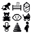 baby icons vector image