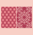 a4 format cards decorated with mandala in pink vector image vector image
