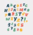 abc upper case letters set vector image vector image