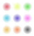Abstract circle dotted background vector image