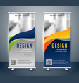 abstract roll up banner standee design vector image vector image