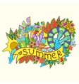 abstract summer vecetion time background vector image