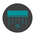 air conditioner glyph color icon
