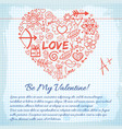amorous lovely background vector image vector image