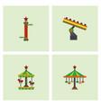 amusement park stock vector image vector image