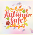 autumn sale design with colorful autumn leaves vector image vector image