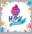 birthday greeting card design includes beautiful vector image