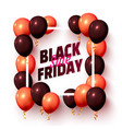 black friday sale frame balloon gift template vector image vector image