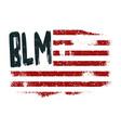 black lives matter symbol american flag vector image
