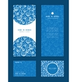 blue white lineart plants vertical frame vector image vector image