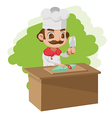 Chef Cooking Cartoon Character Split vector image vector image