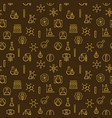 chemistry creative outline seamless pattern vector image vector image
