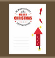 chrismtas card with fireworks design and stars vector image
