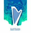 classical music concert poster banner flyer vector image vector image